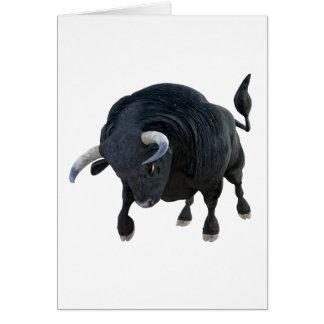 De Stier die van de cartoon Voorwaarts Hoofd neer Kaart