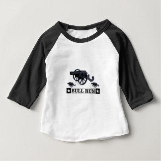 de stier stelt pistolen in werking baby t shirts