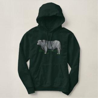 De Stier van Brangus Geborduurde Sweater Hoodie
