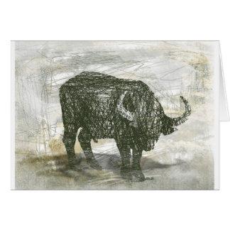 De Stier van buffels Wenskaart