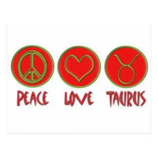 De Stier van de Liefde van de vrede Briefkaart