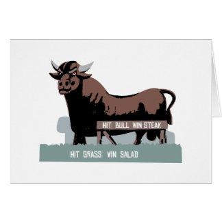 De Stier van Durham NC Wenskaart