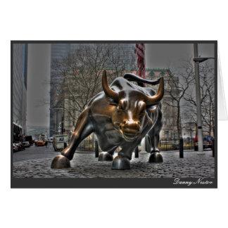 De Stier van Wall Street Wenskaart