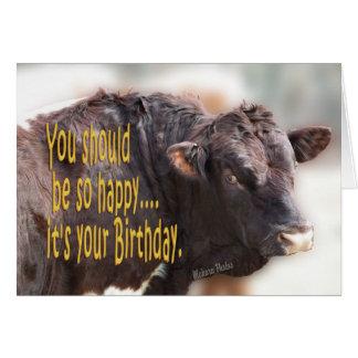 De stier verjaardag-past aan wenskaart