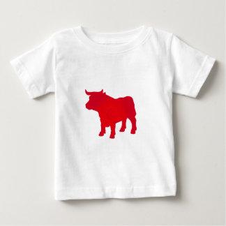 De stier ziet Rood Baby T Shirts