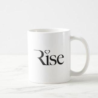 De stijging, tekstwoord, maakt een Verschil Koffiemok