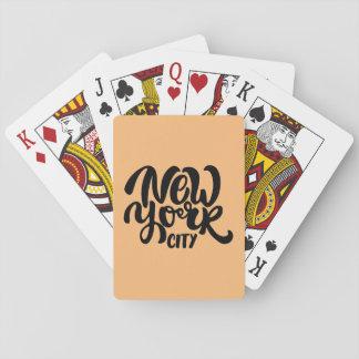 De Stijl van de Stad van New York Pokerkaarten