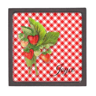 De Stijl van het land, Rode Gingang en Aardbeien Premium Cadeau Doosje