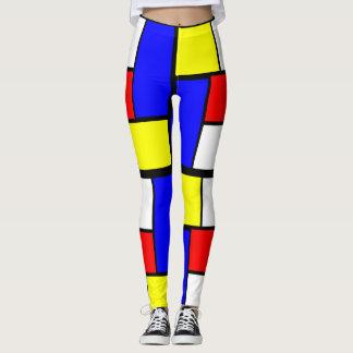 De Stijl van het Patroon van Mondrian Leggings