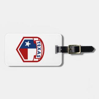 De Stijl van het Wapenschild van de Vlag van Texas Bagagelabel