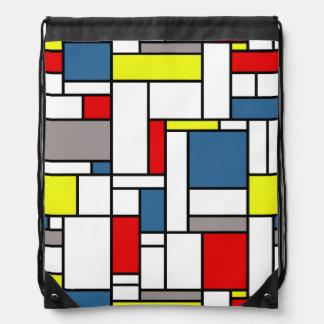De stijl van Mondrian Trekkoord Rugzakje