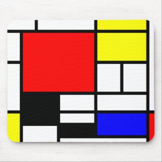 De stijl van Mondrian van neo-Plasticism Muismat