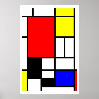 De stijl van Mondrian van neo-Plasticism Poster