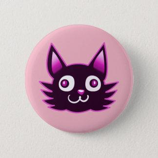 de stijlillustratie van de paarse katten ronde button 5,7 cm