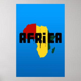 De stijlkaart van Afrika Reggae van Ragga van het Poster