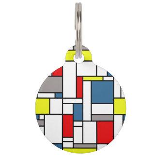De stijlontwerp van Mondrian Huisdierpenning