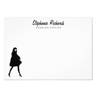 De Stilist van de Mode van mod. personaliseerde Kaart