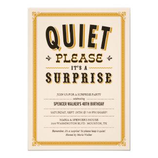 De stille Vintage Uitnodigingen van de Partij van