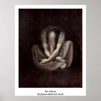 De stilte door Johann Heinrich Fuseli Poster