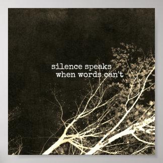 de stilte spreekt het motivatie art. van het poster