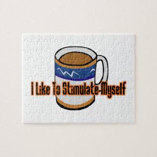 De Stimulatie van de koffie Foto Puzzels