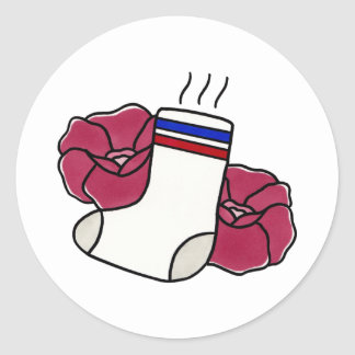 De stinkende Stickers van de Sok van //