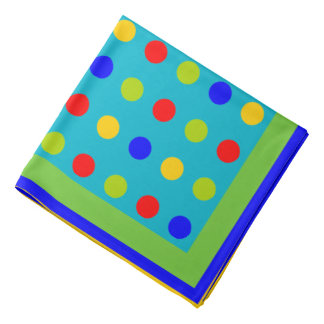 de stippen, geven achtergrondkleur uit bandana