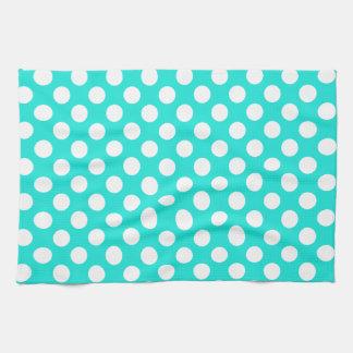 De Stippen van de Kleur van Aqua Handdoek