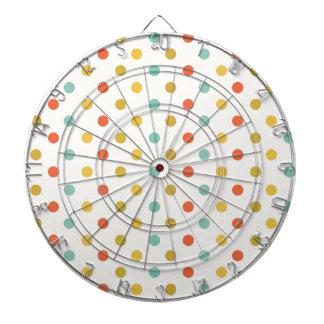 De stippen van de pastelkleur dartbord