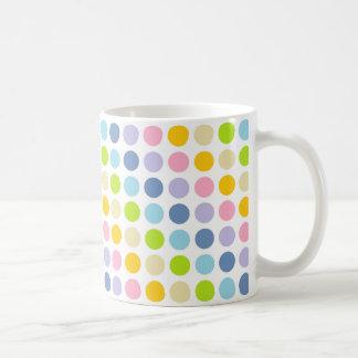 De Stippen van de Regenboog van de pastelkleur Koffiemok