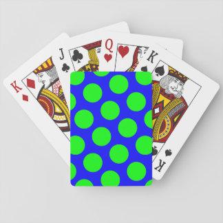 De Stippen van het blauw en van het Limoen Speelkaarten