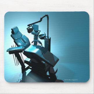 De stoel van de tandarts, computerkunstwerk muismat