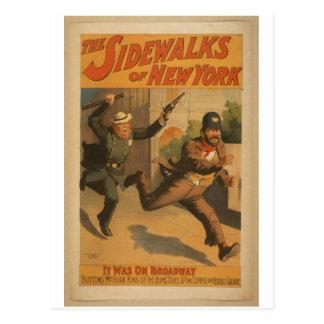 De stoepen van New York, 'het waren op Broadway Briefkaart