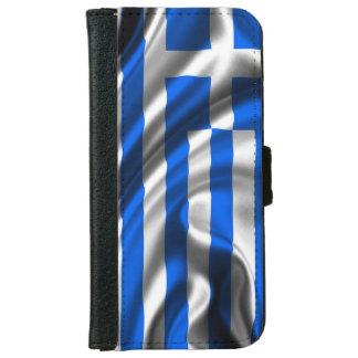 De Stof van de Vlag van Griekenland iPhone 5 Portefeuille Hoesje