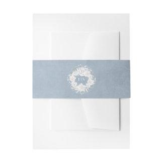 De stoffige BloemenKroon van de Adem van het Blauw Uitnodigingen Wikkel