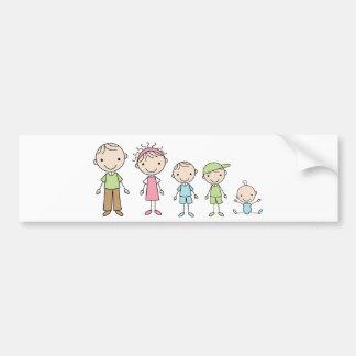 De Stok van de familie stelt de Stickers van de Bumpersticker