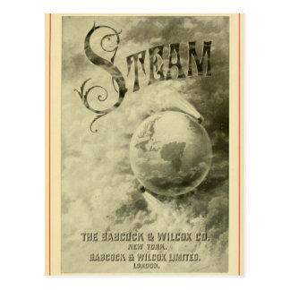 De stoom stelt de Wereld 1904 in werking Briefkaart