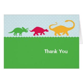 De Stormloop van de dinosaurus dankt u kaardt Notitiekaart