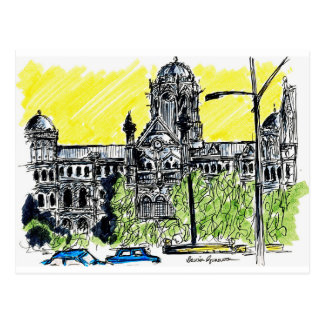De Stormloop van Mumbai Briefkaart