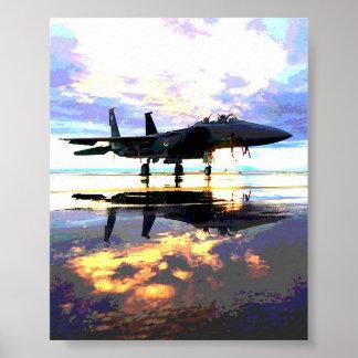 De Straal van de Vechter van vliegtuigen Poster