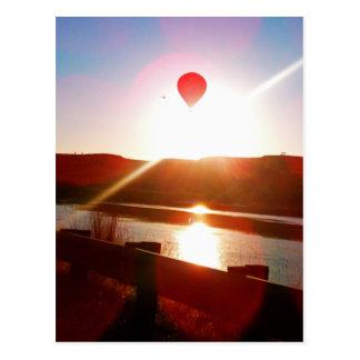De straal van de zon, Hete luchtballon Briefkaart