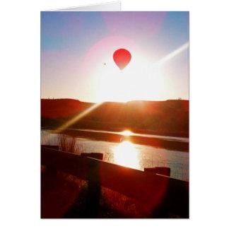 De straal van de zon, Hete luchtballon Wenskaart