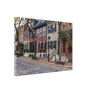 De Straat Philadelphia van Delancy Canvas Print