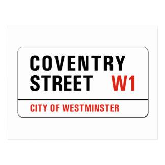 De Straat van Coventry, het Teken van de Straat Briefkaart