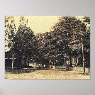 De Straat van de academie, Califon, de Wijnoogst Poster