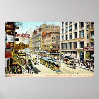 De Straat van de staat, de Wijnoogst van Chicago, Poster