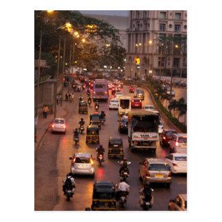 De straat van Mumbai Briefkaart