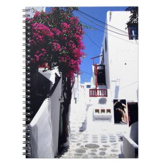 De straat van Santorini Notitieboek