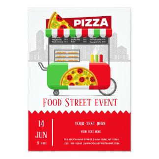 De straatpizza van het voedsel kaart