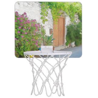 De straatuitzicht van de waterverf mini basketbalbord